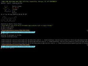 MVN Search Command Demo