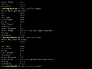 Vault Unseal Example