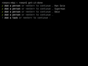 First Run Demo Of The Get-It-Done CLI Tool